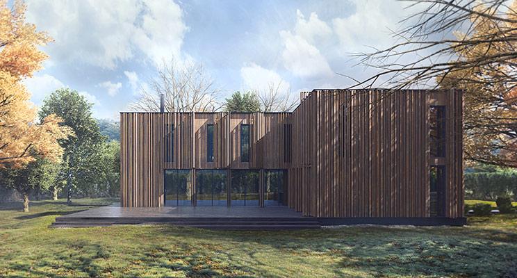 Архитектура в ландшафте: дом Villa Istra от компании Naturi и студии «Арх. Предмет»