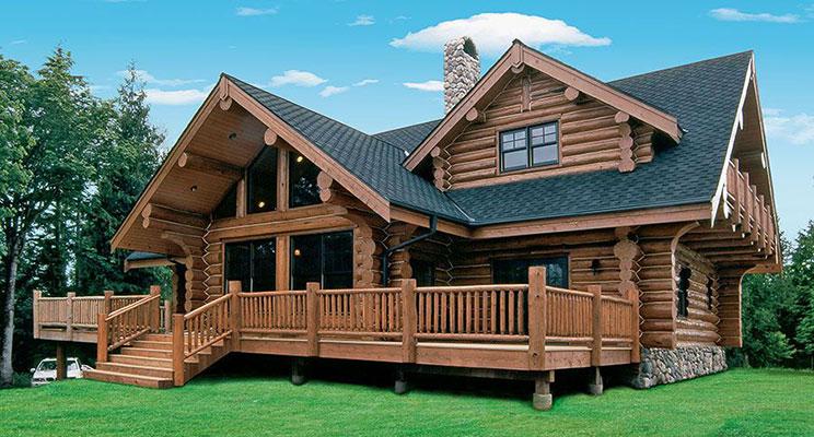 Классические цвета для фасада деревянного дома